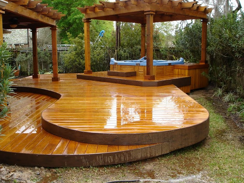 Decks for Circular garden decking