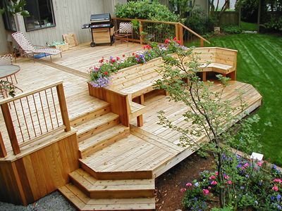 Decks for Small deck seating ideas